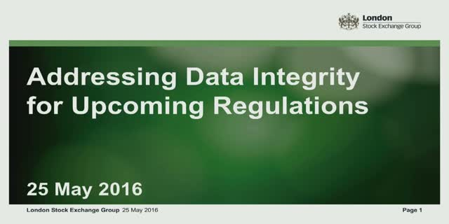 Addressing your data integrity for upcoming regulations