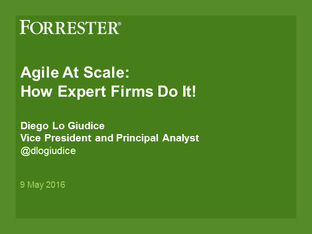 Take Agile to the Next Level with Forrester and CA - 1 PDU
