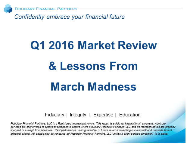 Q1 2016 Market Review & Lessons From March Madness