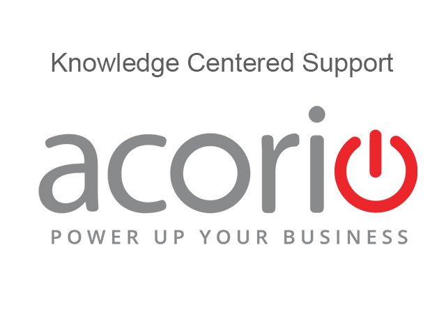 Acorio Knowledge Centered Support
