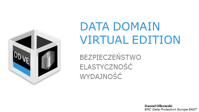 Co nowego? Data Domain Virtual Edition.