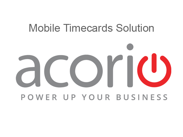 Acorio MobileTimecards Solution