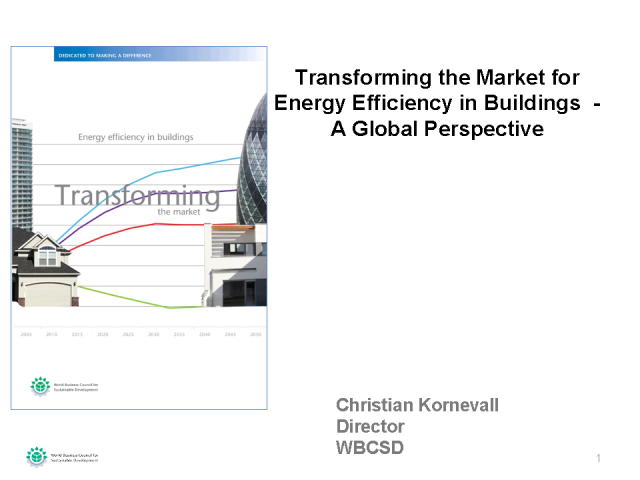Transforming the Market for Energy Efficiency in Buildings