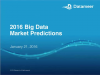 Webinar: 2016 Big Data Market Predictions