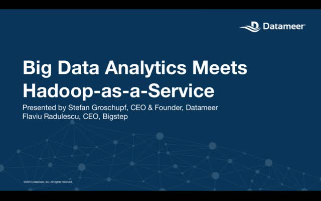 Webinar: EMEA - Big Data Analytics Meets  Hadoop-as-a-Service