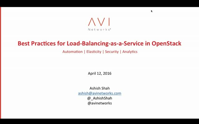 Best Practices for Load-Balancing-as-a-Service (LBaaS) in OpenStack