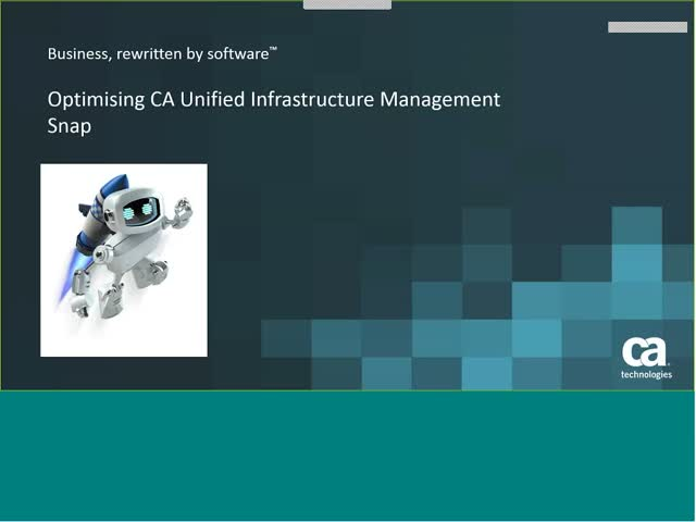 Optimising monitoring with CA UIM Snap