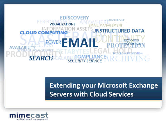 Extending your Microsoft Exchange Servers with Cloud Services