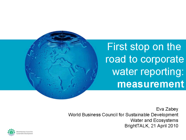 First Stop on the Road to Corporate Water Reporting: Measurement