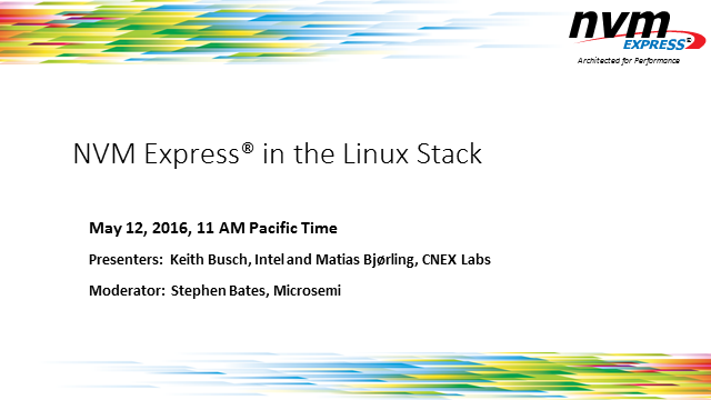 NVM Express in the Linux Stack