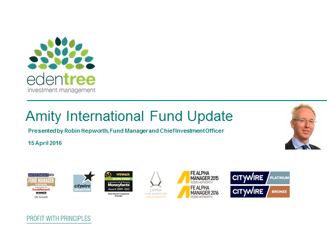 Amity International Fund Update
