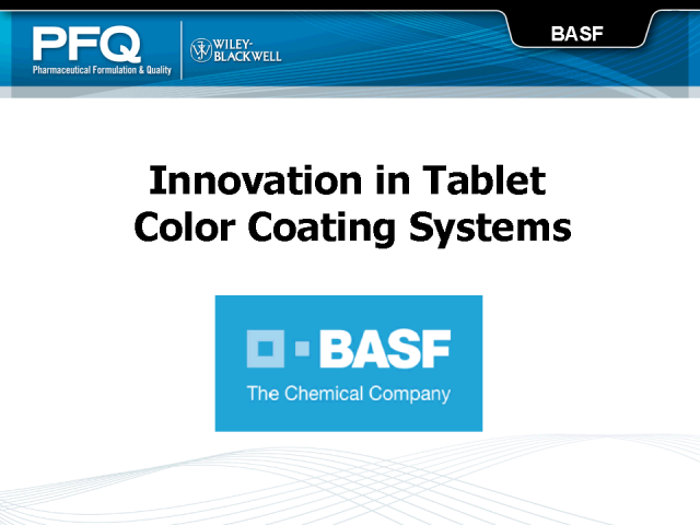 BASF Innovation in Tablet Color Coating Systems