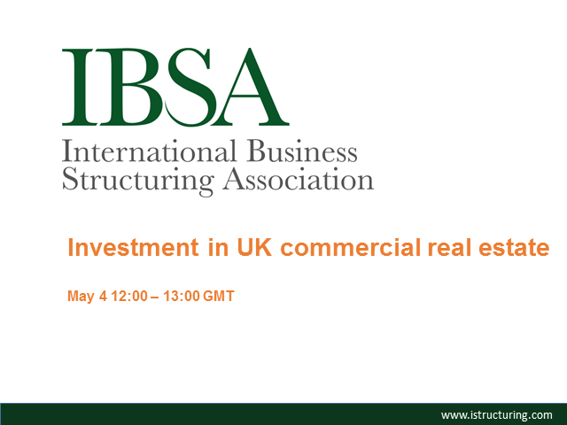 Investment in UK Commercial and Residential Real Estate