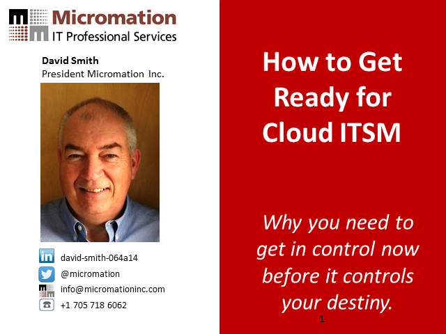 How to Get Ready for Cloud ITSM