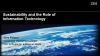 Sustainability and the Role of Information Technology