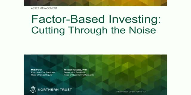 Factor-Based Investing – a Quant Expert Cuts Through the Noise
