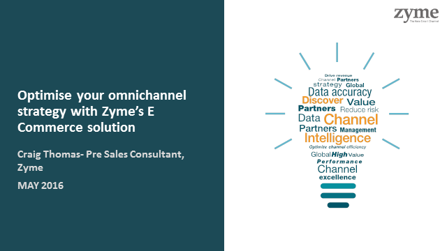 Optimise your omnichannel strategy with Zyme's E Commerce solution