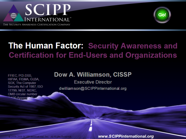 The Human Factor: Security Awareness and Certification