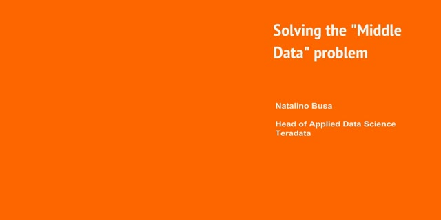 """Solving the """"Middle Data"""" problem"""