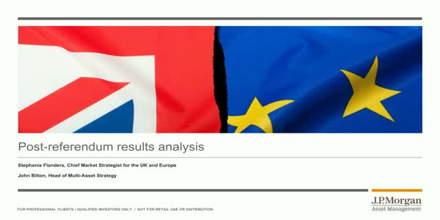 J.P. Morgan Post EU referendum results analysis