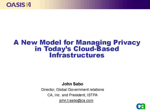A New Model for Managing Privacy in Today's Cloud Infrastructures