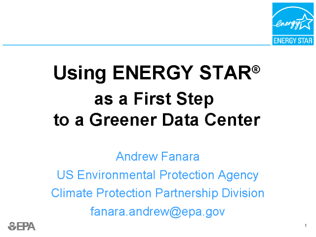 The first step to a greener datacenter is blue
