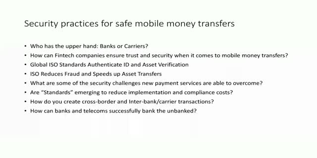 Security practices for safe mobile money transfers