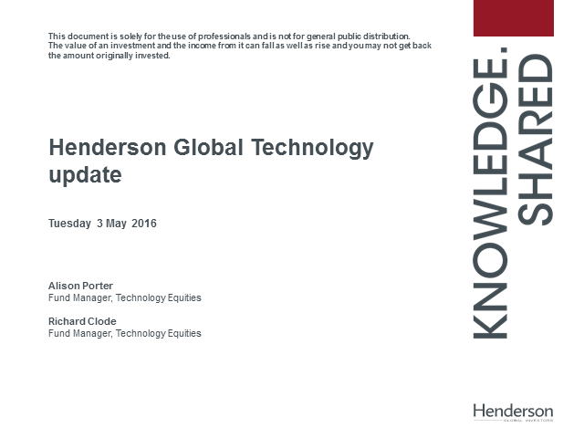 Live Insight: Henderson Global Technology Strategy Update