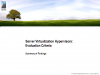 Server Virtualization Hypervisors