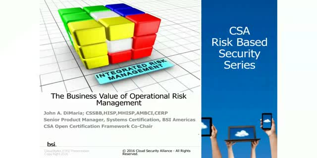 The Business Value of Operational Risk Management