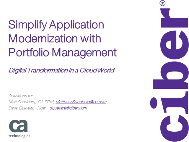 Simplify Application Modernization with Portfolio Management