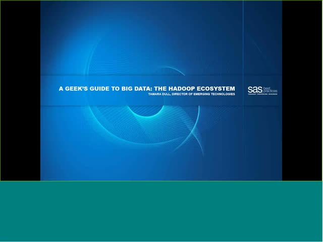 A Geek's Guide to Big Data: The Hadoop Ecosystem