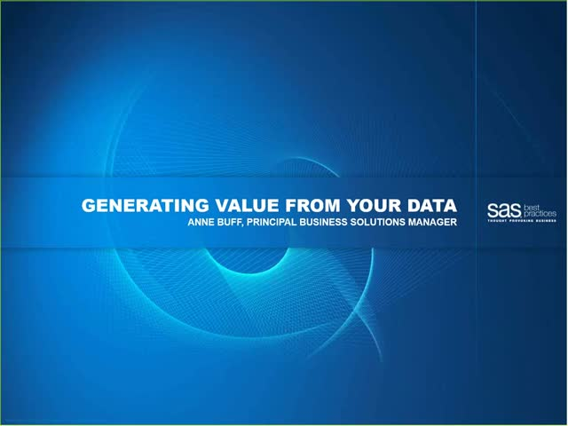 Generating Value From Your Data