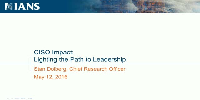 CISO Impact: Lighting the Path to Leadership