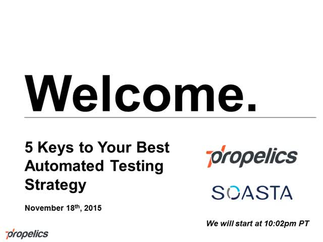 Five Keys to Your Best Automated Testing Strategy