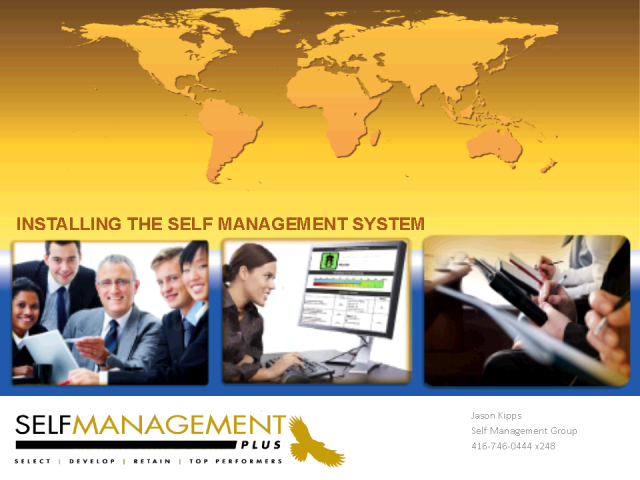 Training & Coaching, Installing a Self Management System