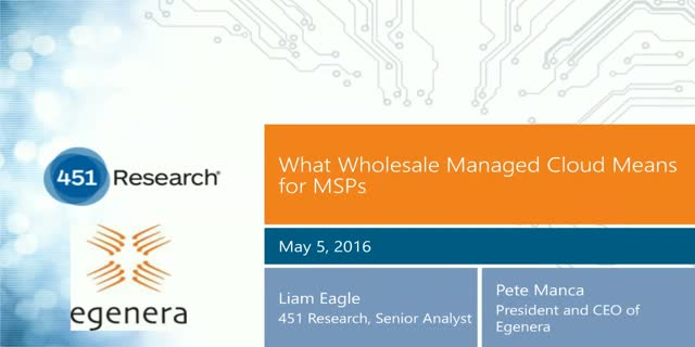 What Wholesale Managed Cloud Means for MSPs