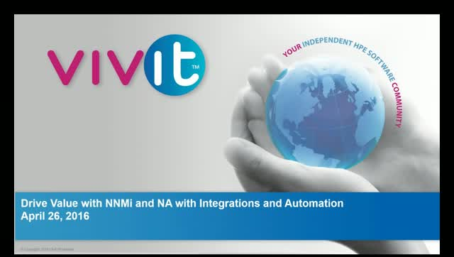 Drive Value with NNMi and NA with Integrations and Automation