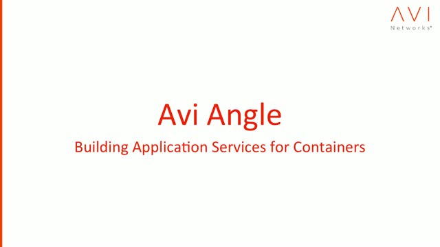 Building Application Services for Containers
