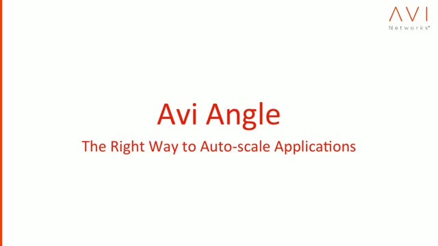 The Right Way to Auto-scale Applications