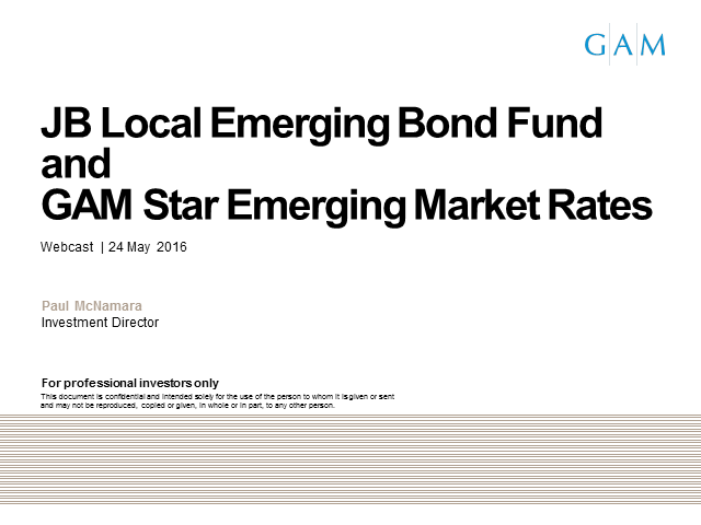 JB Local Emerging Bond Fund / GAM Star EM Rates