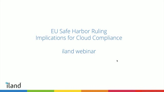 EU Safe Harbor Ruling – Implications for Cloud Compliance