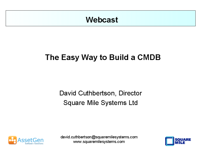 The Easy Way To Build a CMDB