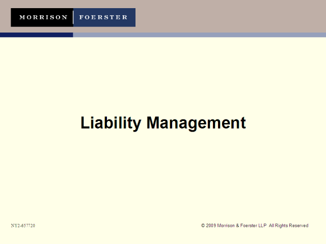 Debt hangover: Addressing liability management