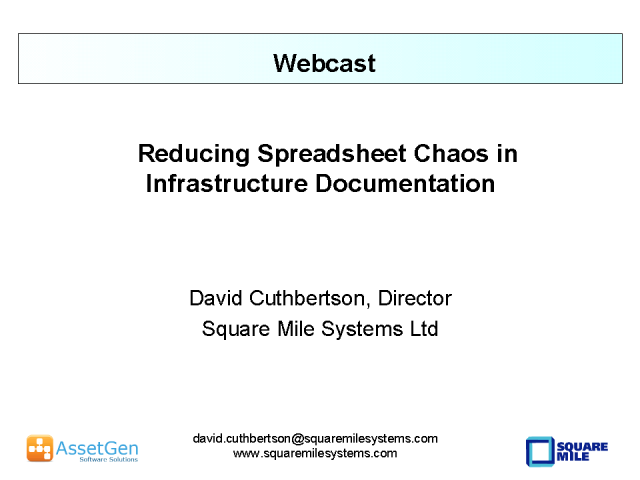 Reducing Spreadsheet Chaos in Infrastructure Documentation