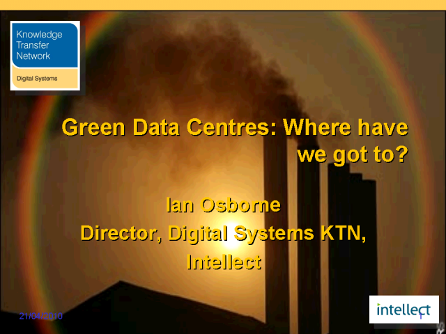 Green Data Centers – Where Have We Got To?