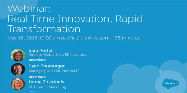 Real-Time Innovation, Rapid Transformation: Accenture's Digital CRM Journey