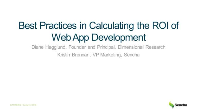 Best Practices in Calculating the ROI of Web App Development