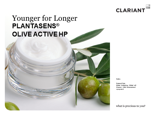 Plantasens Olive Active HP, an all-natural AGE-fighter by Clariant
