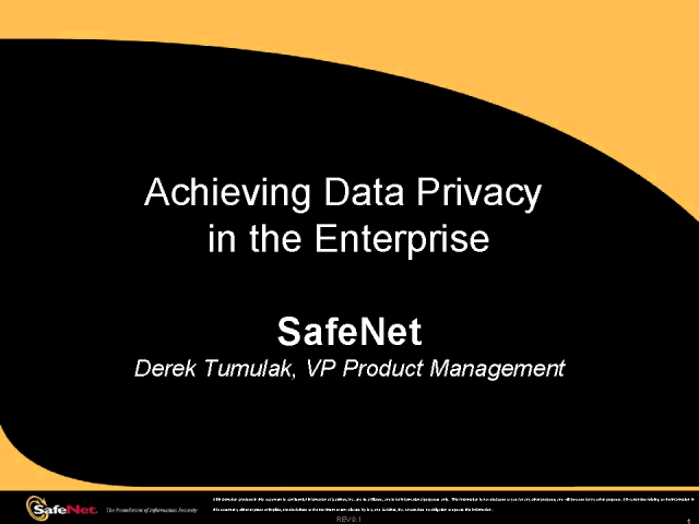 Achieving Data Privacy in the Enterprise